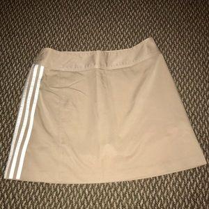 Tan Adidas Climalite Golf/Tennis Skort